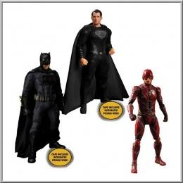 Mezco Toys Batman-Superman-Flash Deluxe Steel Box Set - Zack Snyder's Justice League