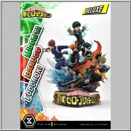 Prime 1 Studio Midoriya, Bakugo & Todoroki Deluxe Bonus Version - My Hero Academia