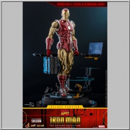 Hot Toys Iron Man Deluxe Version - Marvel The Origins Collection Comic