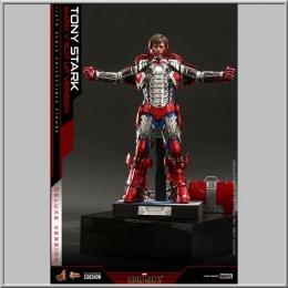 Hot Toys Tony Stark (Mark V Suit Up Version) Deluxe - Iron Man 2