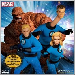 Mezco Toys Les 4 Fantastiques Deluxe Steel Box Set - Marvel