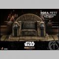 Hot Toys Boba Fett (Repaint Armor) and Throne - Star Wars The Mandalorian