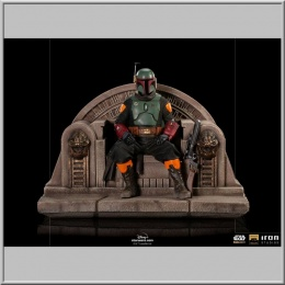 Iron Studios Boba Fett on Throne - Star Wars The Mandalorian